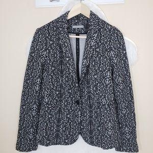 Olivia moon floral blazer black and heather gray